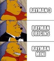 Rayman 3 Vs Rayman Origins VS Rayman Mini