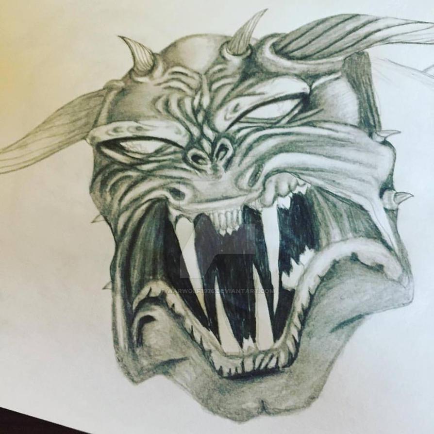 Drawlloween - Demon by warwolf1976