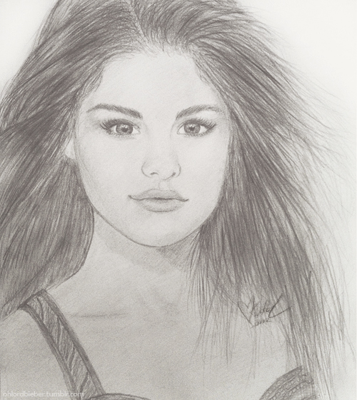 Selena Gomez Drawing by krilar on DeviantArt