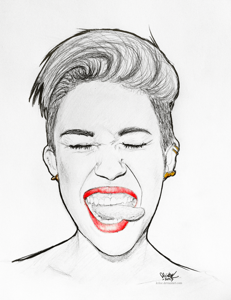 Uncategorized Miley Cyrus Coloring Pages miley cyrus by krilar on deviantart krilar