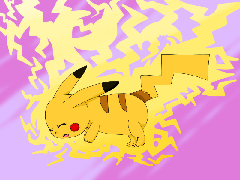 Pikachu Thundershock by Faliru9676 on DeviantArt