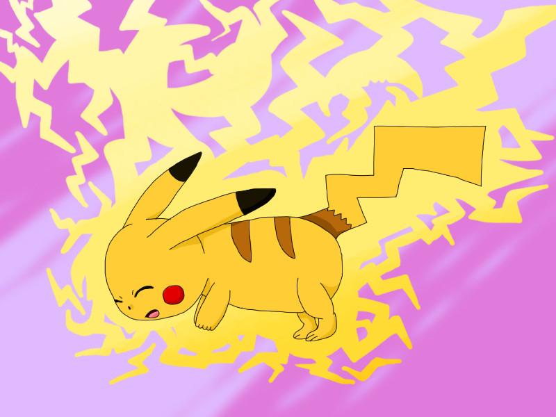 Pikachu Thundershock by Faliru9676 on DeviantArt
