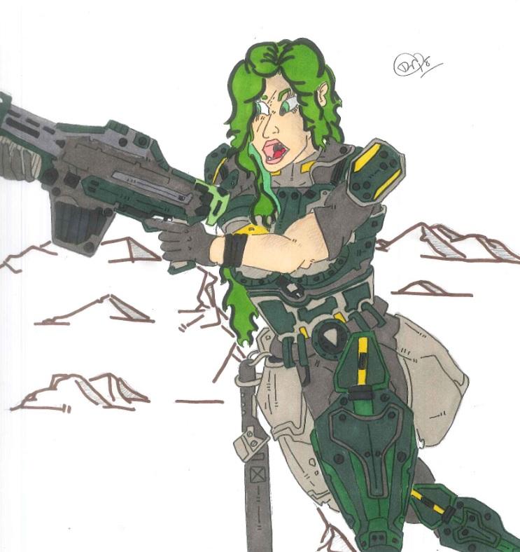 Marie Fenix (gears of war)  (request) by Vaughn787