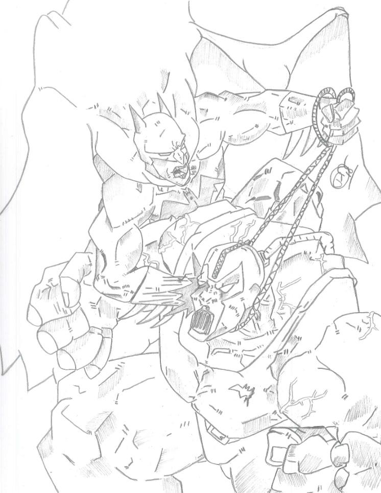 Batman vs Bane by Vaughn787