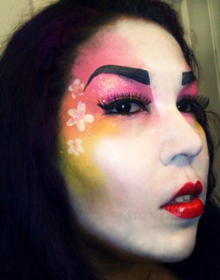 geisha face by ARTSIE-FARTSIE-PAINT