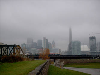 Toronto in the Clouds by cannedlizard