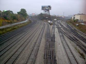 Rail Lines in the Rain by cannedlizard