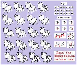 F2U | Pixel Pony Base
