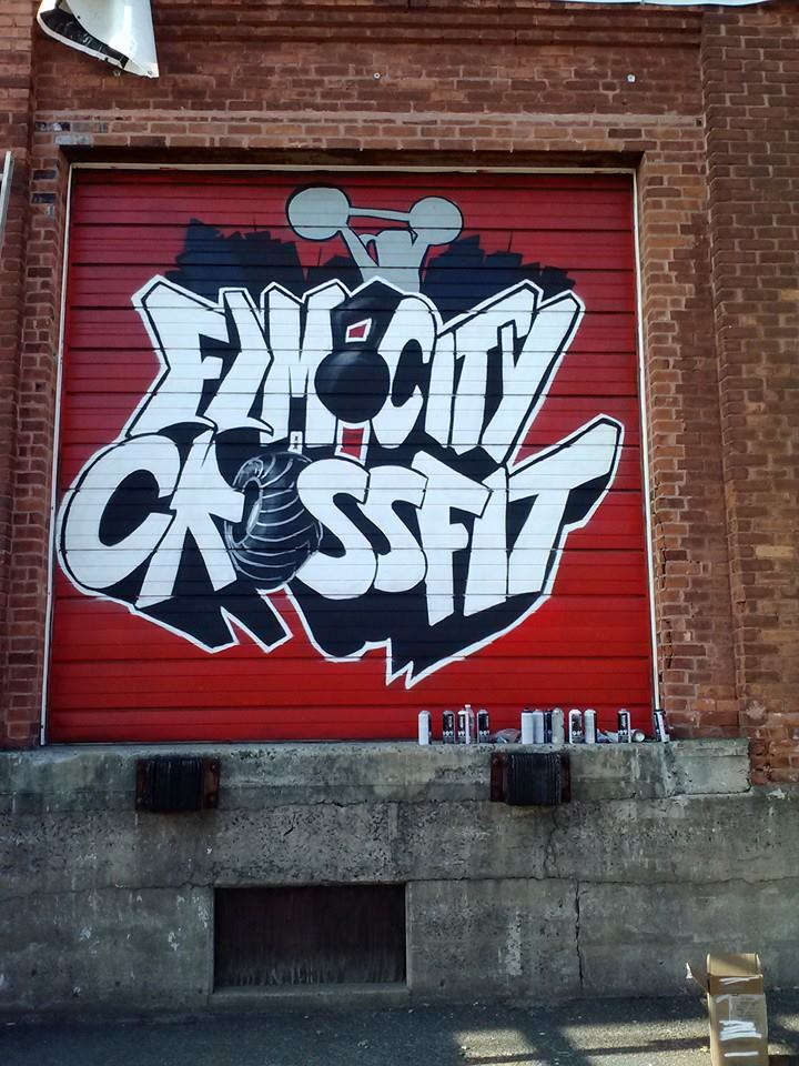 Elm City CrossFit Mural By AllisonTamagna