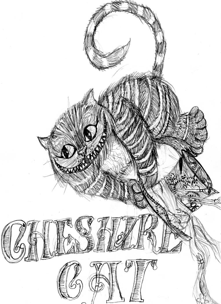 Cheshire Cat By The Nightmare Doctor On Deviantart Cheshire Cat Coloring Pages