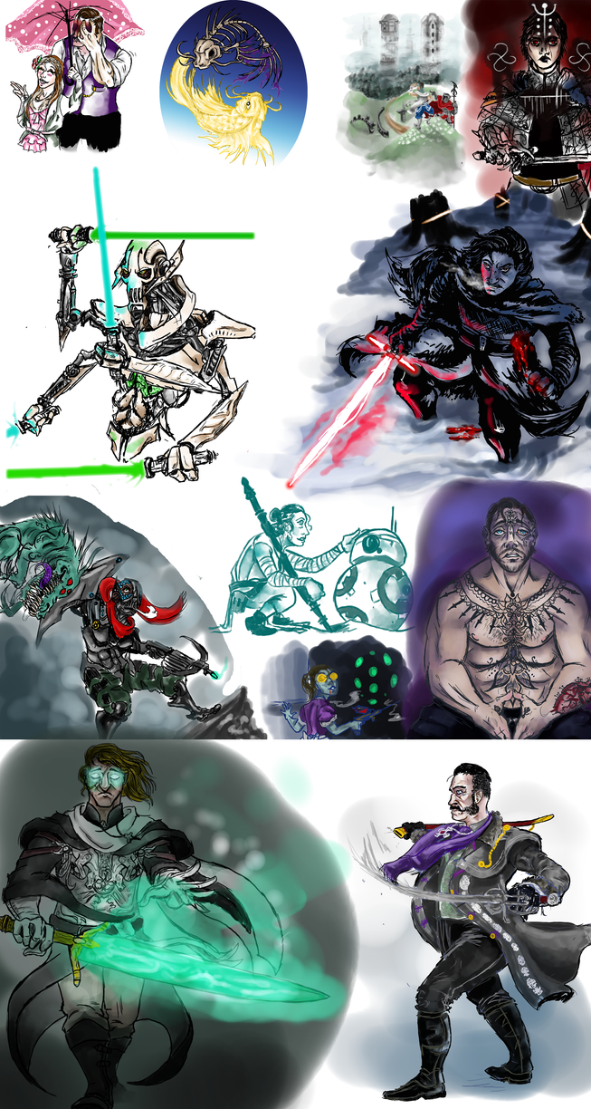 2016 Sketchdump by The-Nightmare-Doctor