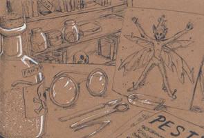 Inktober #5: Toxic fairy dust by EarlNoir