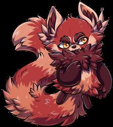 PLANET OSMO   Red Panda Blobobin [CUSTOM]