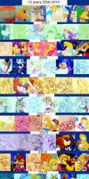 My Rayman fan arts timeline
