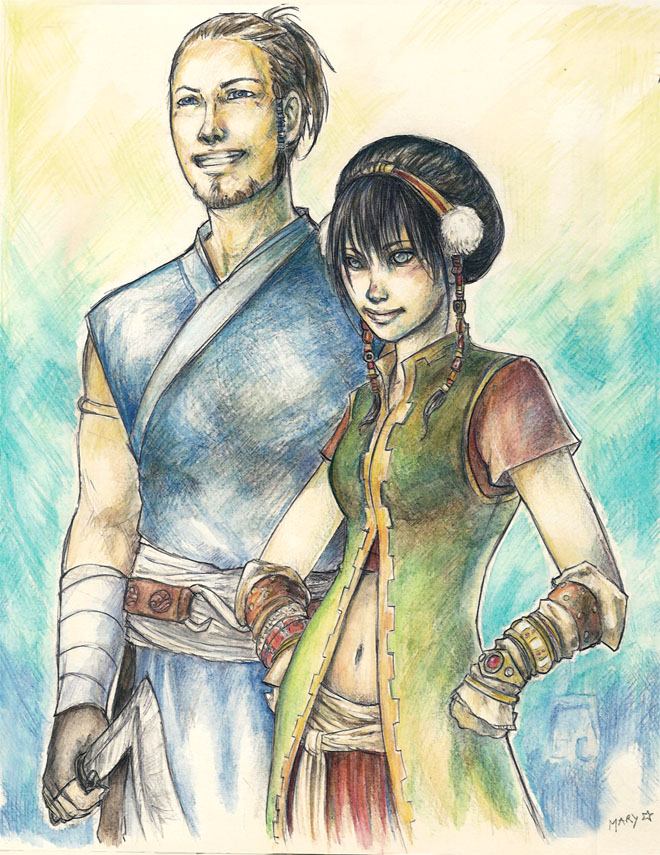 Sokka and Toph by Palila