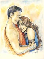 Katara and Aang by Palila