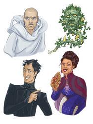 Szeth, Wyndle, Witt and Navani by Palila