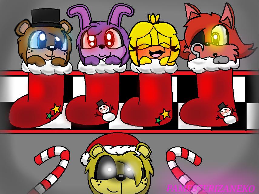 Fnaf Christmas.Fnaf Merry Christmas By Pame87erizaneko On Deviantart