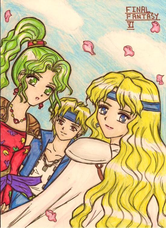 Final Fantasy 6 : Locke, Celes and Terra by dagga19