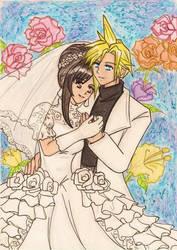 FFVII: Cloud and Tifa's wedding by dagga19