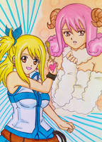 FAIRY TAIL: Lucy and Aries by dagga19 by dagga19