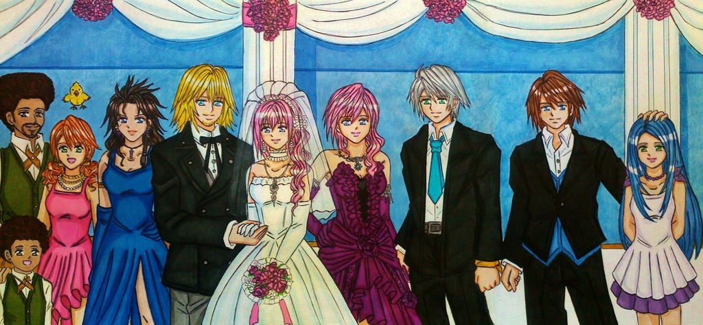 SPOILER LRFF13: Snow and Serah's wedding by dagga19