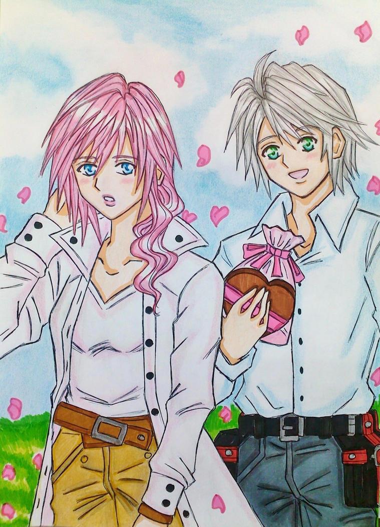 Hope x Lightning : Happy Valentine's day by dagga19