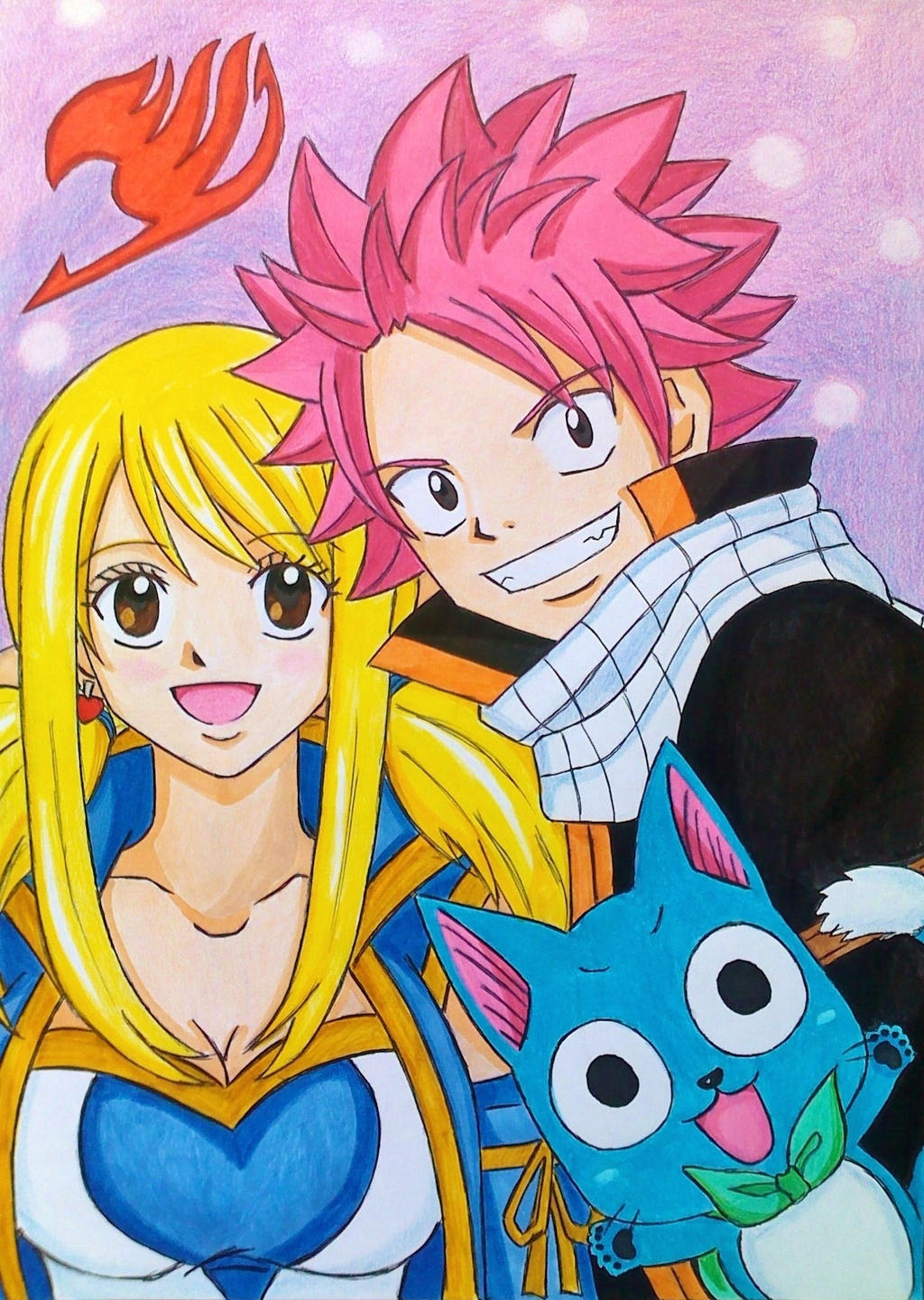 Fairy tail is back natsu lucy and happy by dagga19 on deviantart - Fairy tail lucy et natsu ...