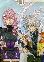 Lightning x Hope: Wounds by dagga19