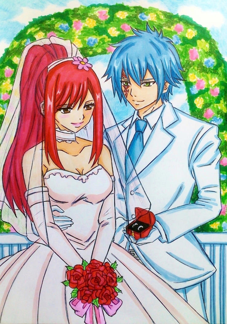 Fairy Tail: Jellal and Erza's wedding by dagga19