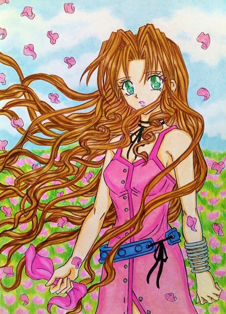 Aerith Gainsborough manga style by dagga19