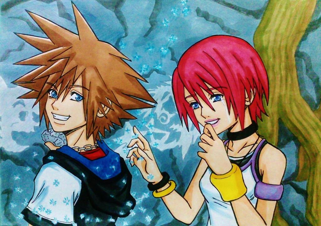 Duo magique - Kairi/Axel   Kingdom Hearts III by ChronosLS