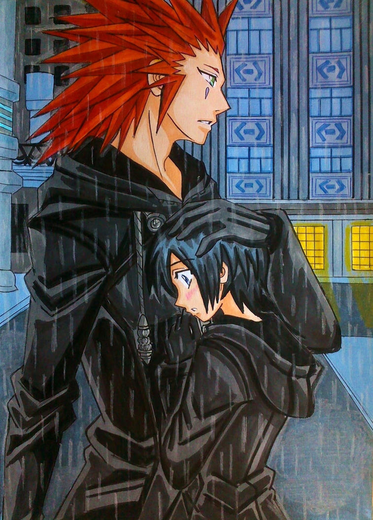 Axel x Xion Under the rain by dagga19