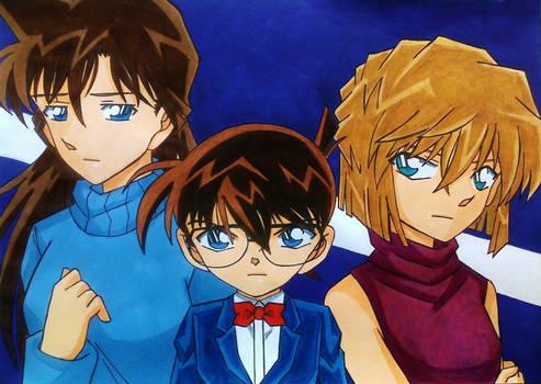 Detective Conan: Ran x Conan x Ai