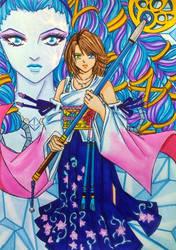 Final Fantasy X: Yuna and Shiva by dagga19