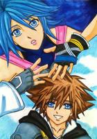 Kingdom Hearts 2.8: Sora and Aqua by dagga19