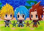 World of Kingdom Hearts:  Terra, Aqua and Ven by dagga19