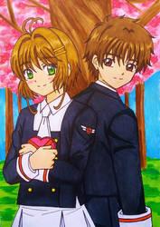 Card Captor Sakura- Clear Card: Sakura x Syaoran by dagga19