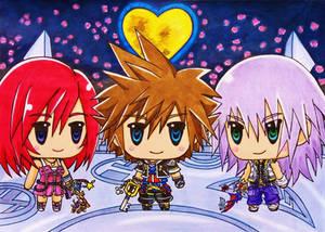 World of Kingdom Hearts 2: Sora, Kairi and Riku