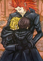 KH3 SPOILER : Roxas, Xion and Axel' s reunion by dagga19
