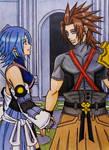 Terra x Aqua ( KH3 spoiler ) : Eye reading by dagga19