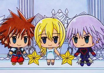 World of KH CoM : Sora, Namine and Riku Replica by dagga19