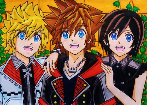 Sora, Xion and Roxas : Hearts as One