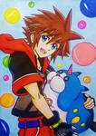 KH3D: Sora and Meow Wow