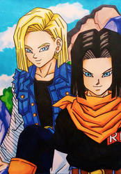 Dragon Ball Z: Android 17 and 18 by dagga19
