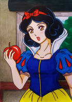 Snow White Disney Anime style by dagga19