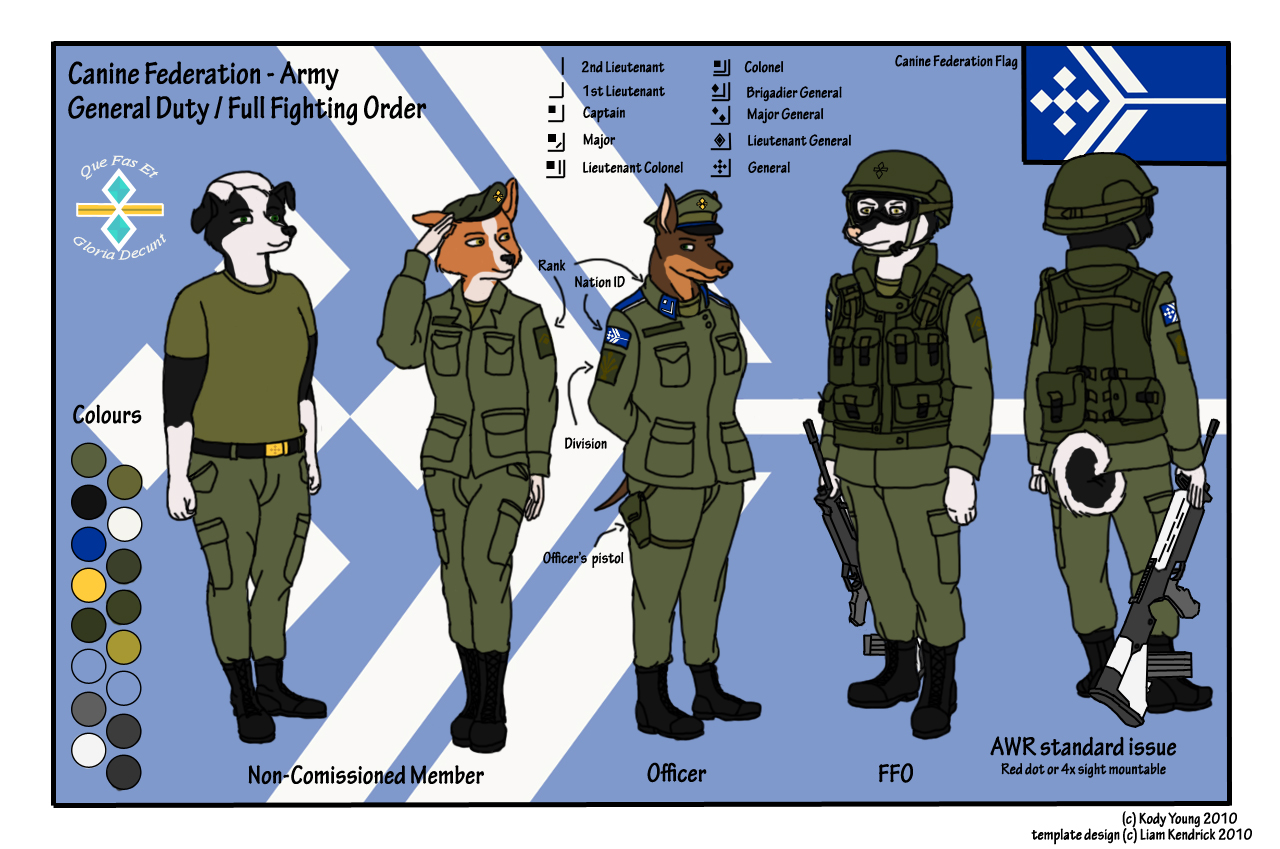 Canine Federation - Army by KodyYoung
