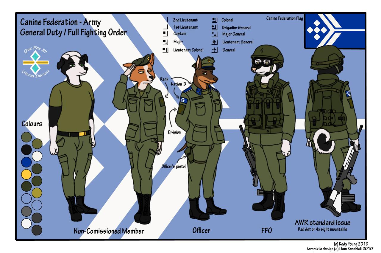 Canine Federation - Army by KodyYoung