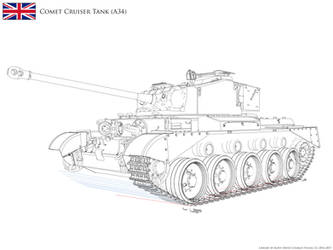 :WIP: A34 Comet Cruiser Tank - Lineart v2.21 by KodyYoung