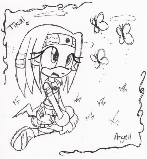 Tikal Cute Girl by angell0o0
